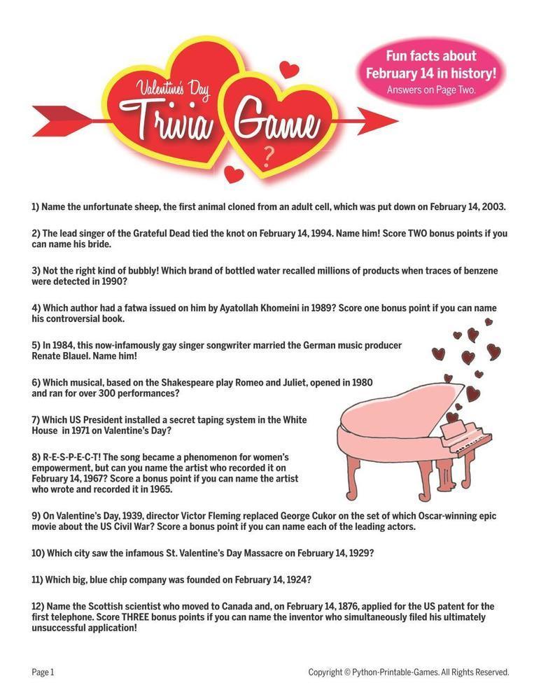 Valentine's Day: Trivia II