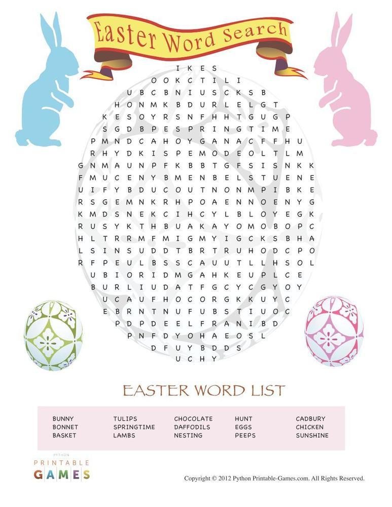 Easter: Word Search
