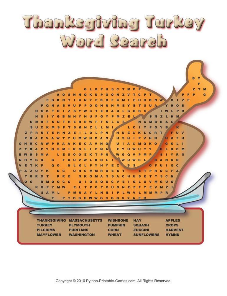 Thanksgiving: Word Searches Pack