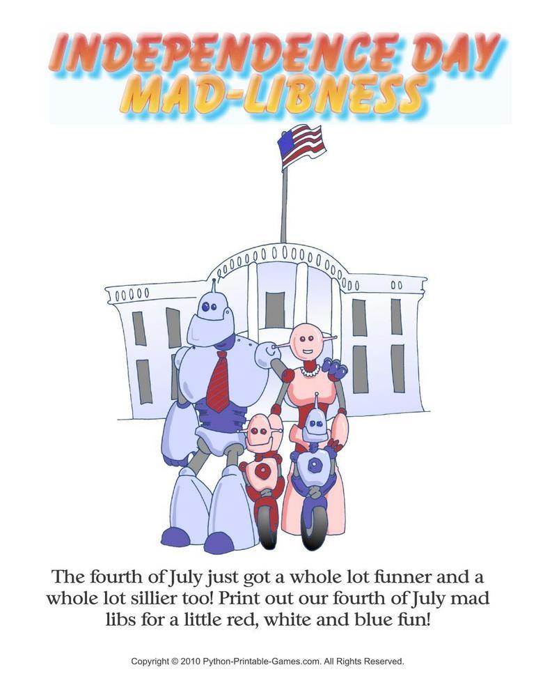 Independence Day: Mad Libs