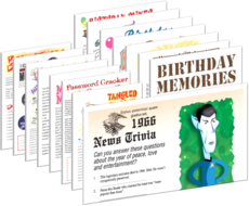 50th birthday party printable games set