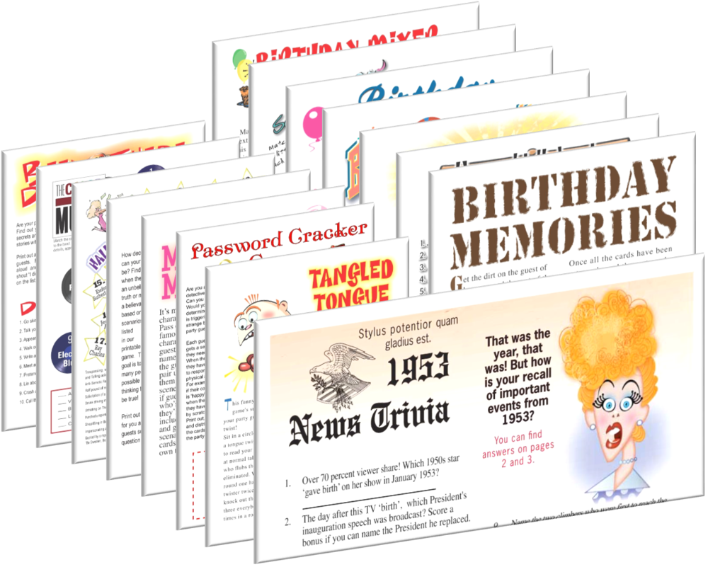1953 Birthday pack + FREE Party Games