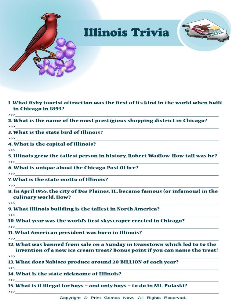 American Games: Illinois Trivia