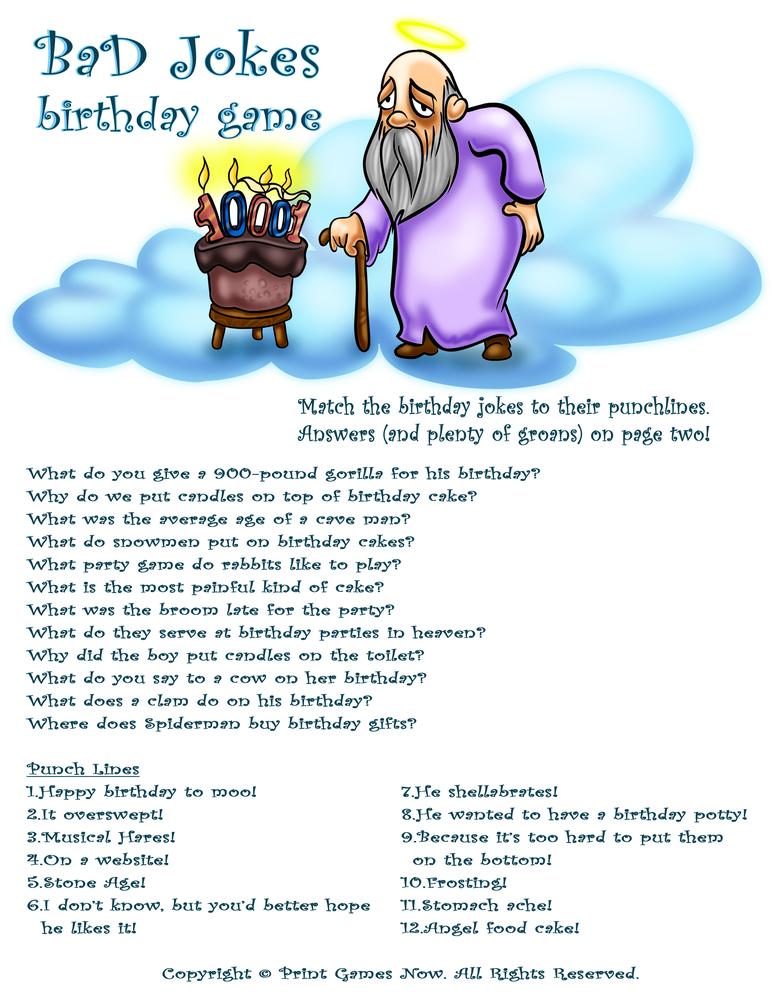 Birthday Party: Bad Jokes