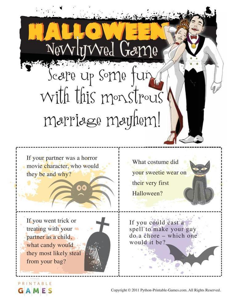 Halloween: Newlywed Game Questions