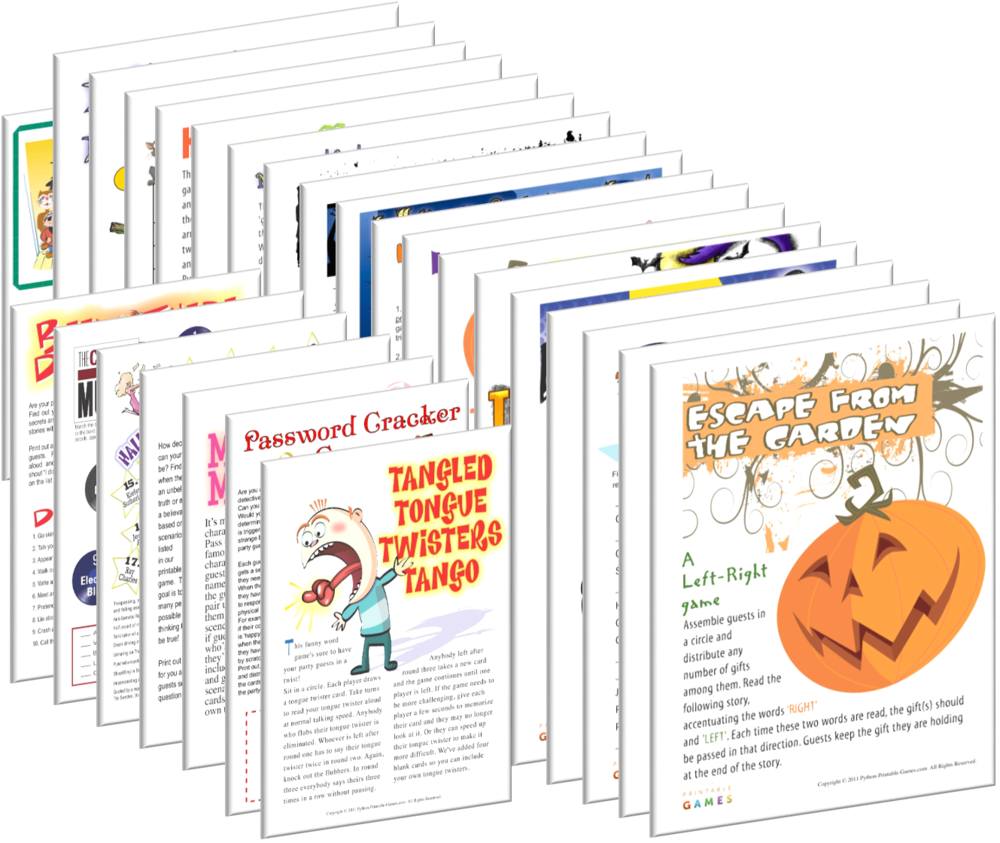 Printable Halloween Games All 21 Halloween Games + 7 FREE Party Games packages together