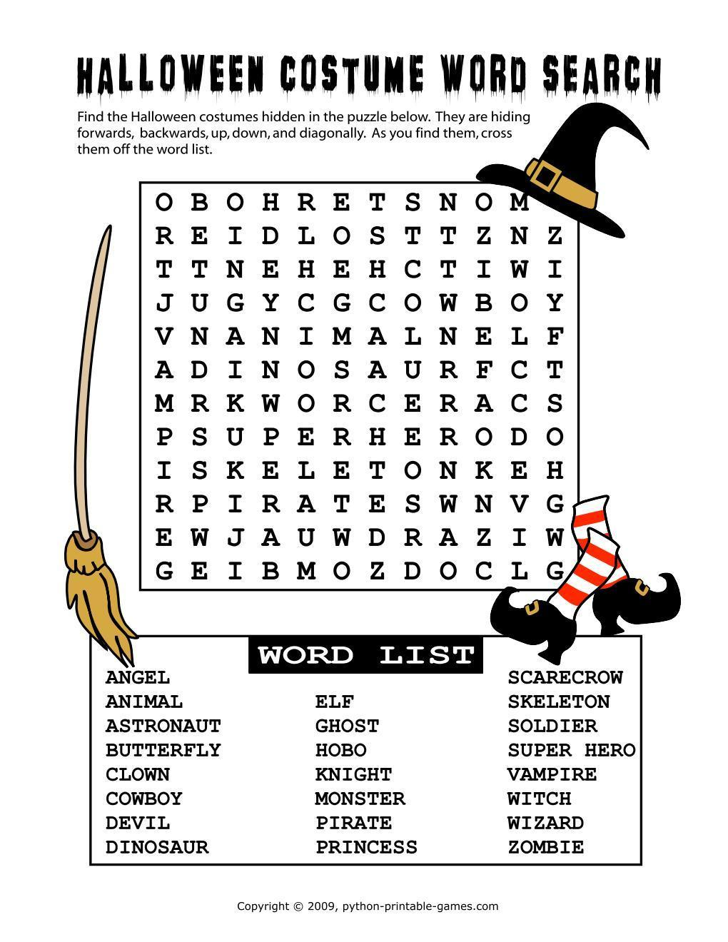 Halloween word search how to download the best printable fall halloween games online