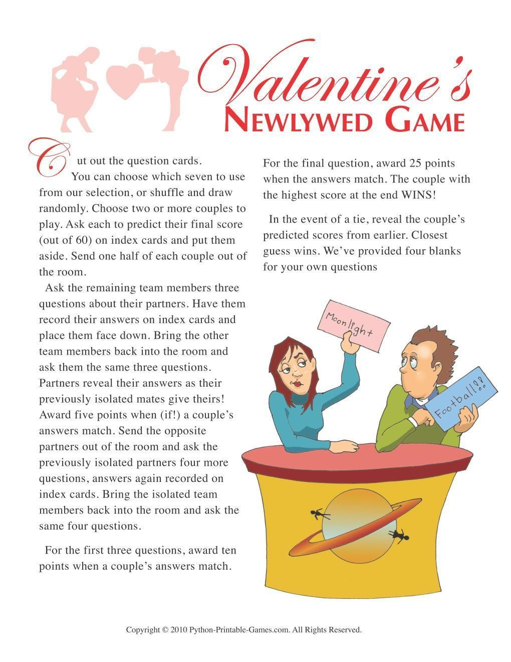 Valentine's Day: Newlywed Questions Game