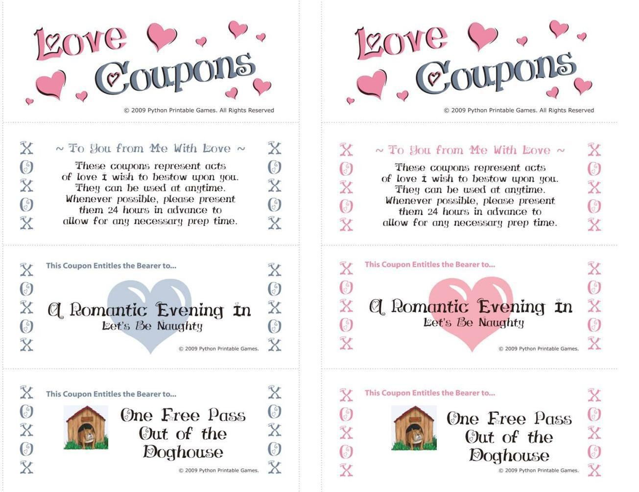 Games for Lovers: Romantic Coupons