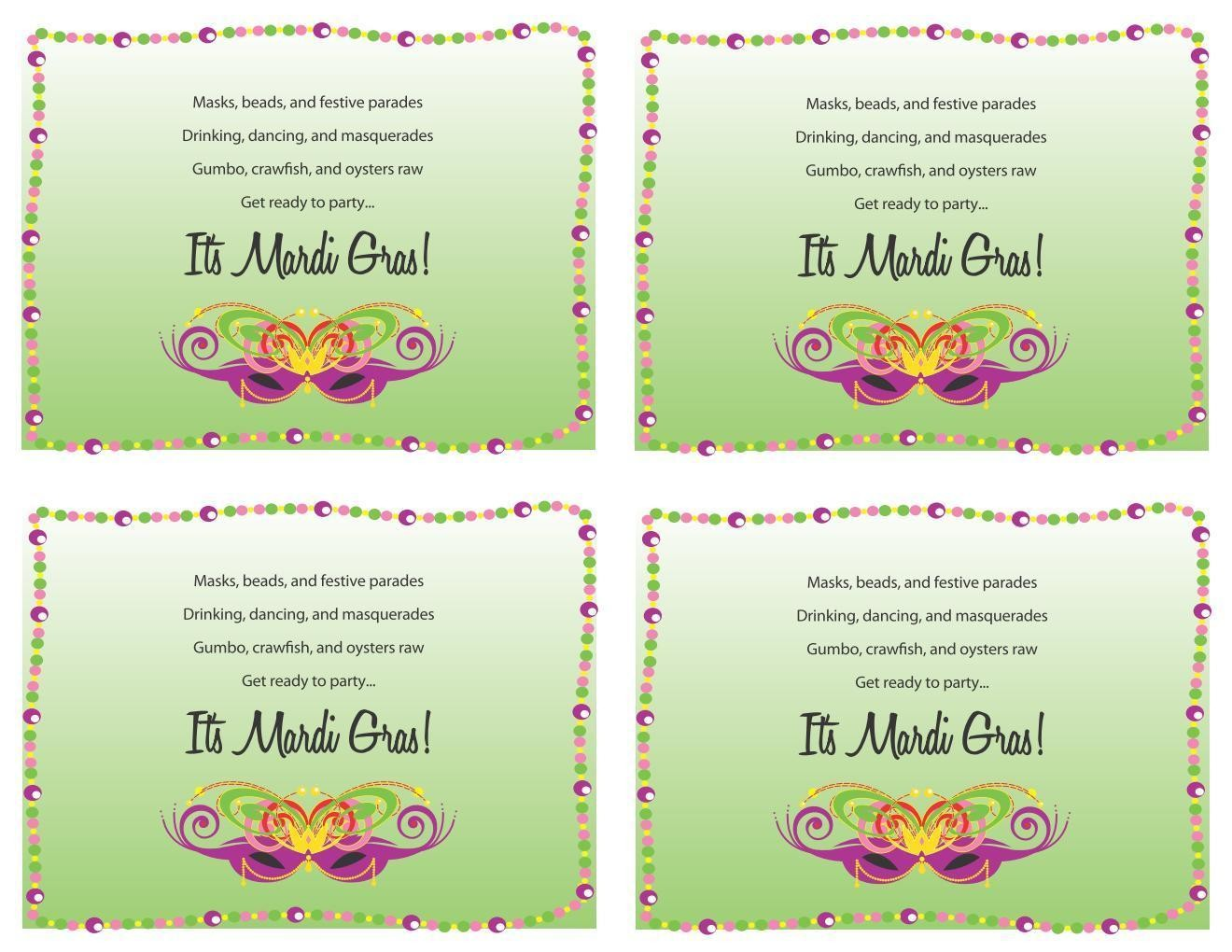 Mardi Gras: Invitations