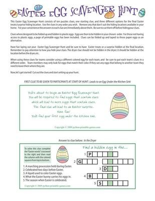 graphic relating to Easter Trivia Printable called Printable Easter Online games - Print Online games Presently