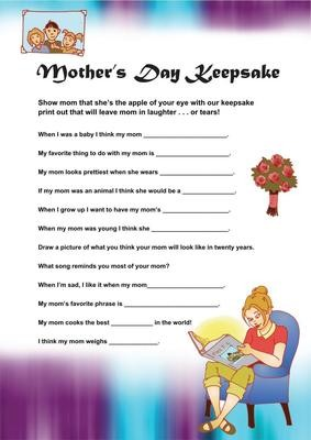 graphic relating to Free Printable Mother's Day Games for Adults identify Moms Working day Game titles