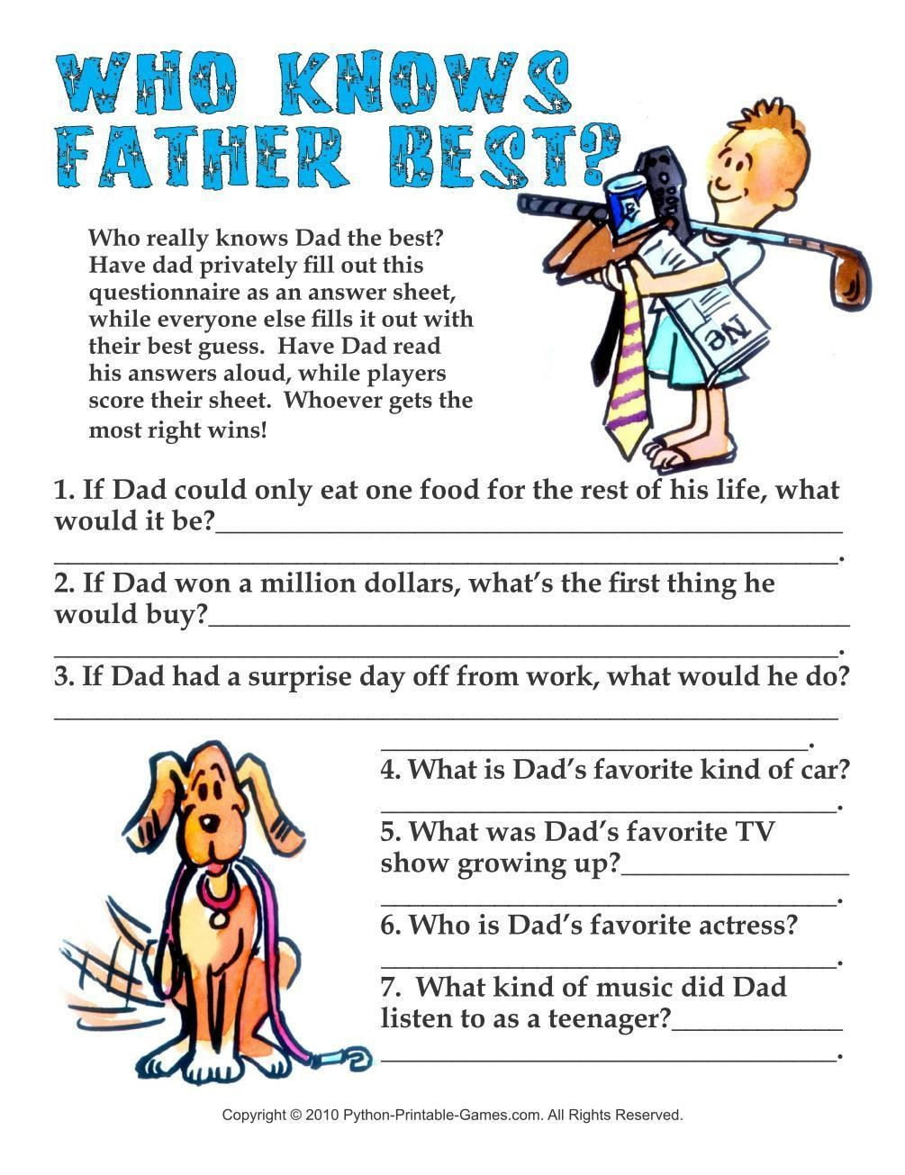 Father's Day: Who Knows Daddy Best?