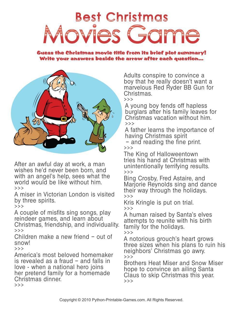 picture relating to Printable Christmas Trivia named Xmas: Excellent Xmas Flicks Trivia