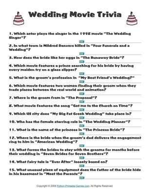 graphic regarding Mardi Gras Trivia Quiz Printable called Marriage Game titles