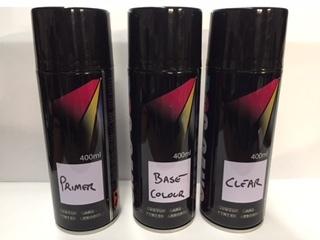 Primer , Base & Clear 400ml Aerosol Paint Kit 00009