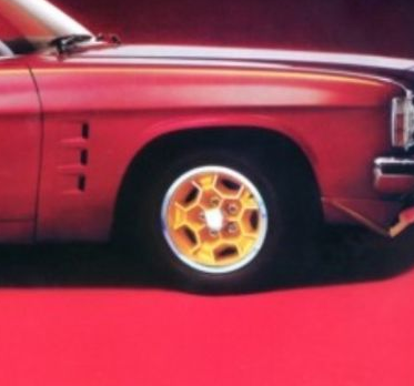 LE Monaro Honeycomb Gold Wheel Paint 00069