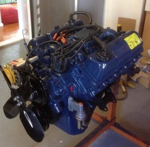 Engine heat paint XW XY GT ENGINE BLUE 00087
