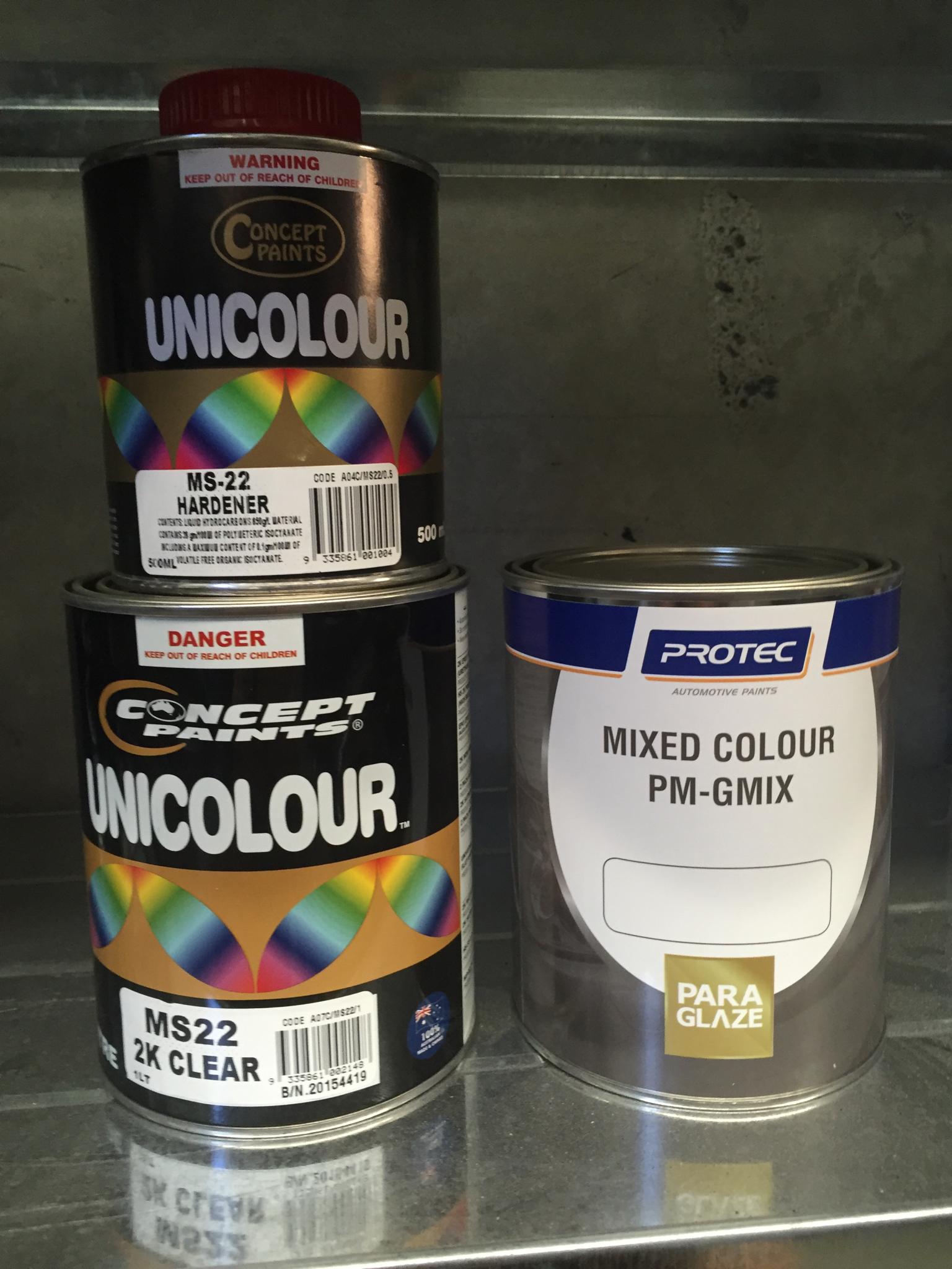 1 Litre Base Colour / 2k Clear Kit 00097