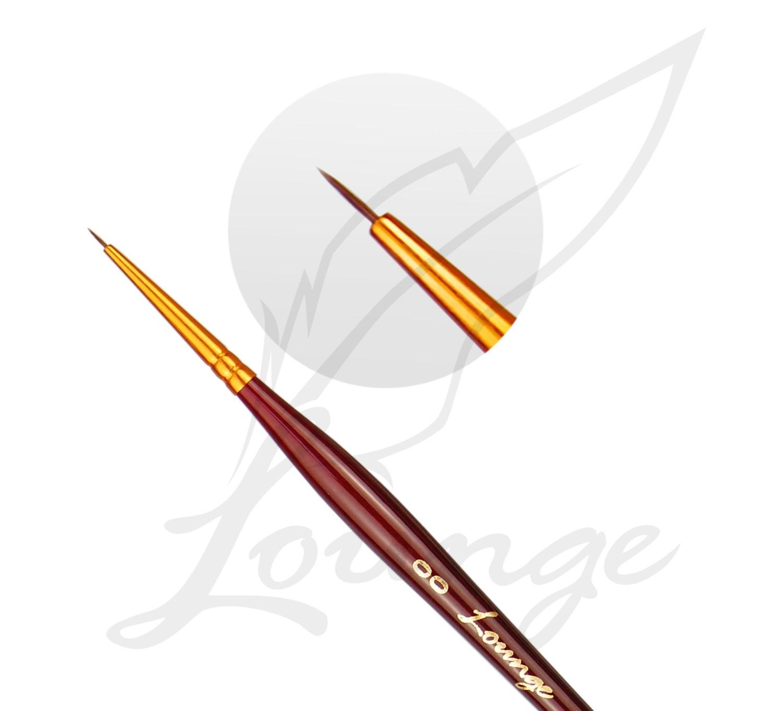 Akrylfarben Pinsel mit goldener Spitze Gr 00