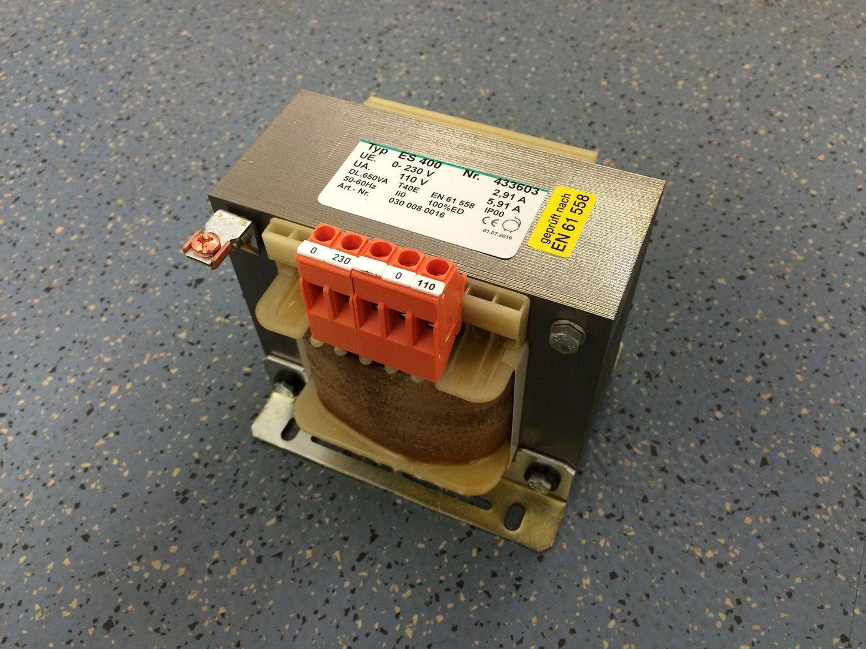 Transformator 230V --> 110V, 650 Watt