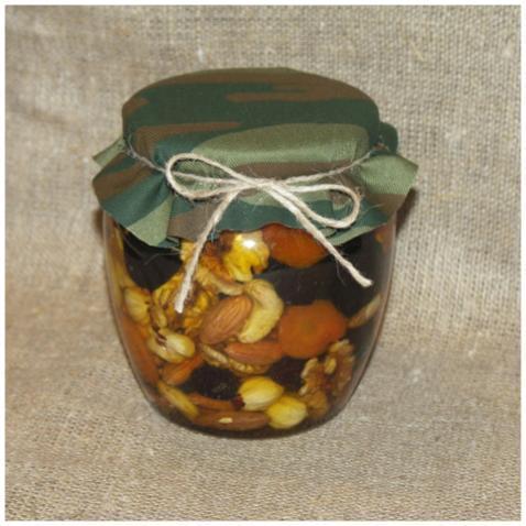 Орехи и сухофрукты (россыпью) в меду, 500 мл. (23 февраля)