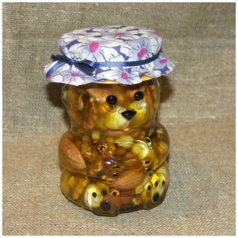 """Орехи в меду """"Мишка"""", 295 мл."""
