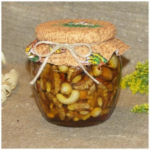 Орехи в меду (россыпью), 500 мл. (8 марта)