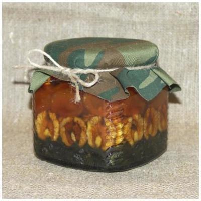 Орехи и сухофрукты в меду (рядами), 390 мл. (23 февраля)