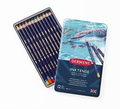 Pencil Inktense Tin Derwent Set of 12