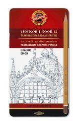 Graphite Pencils Graphic Koh-I-Noor Set of 12
