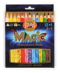 Pencils Jumbo Triangular Coloured Magic 12+1