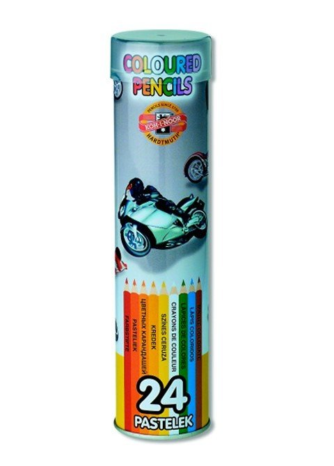 Pencils Crayons Tube Of 24