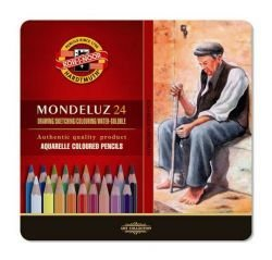 Pencils Aquarell Tin Crayon Koh-I-Noor Tin Of 24