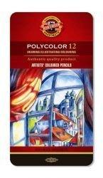 Pencil Polycolor Crayons Koh-I-Noor Set Of 12