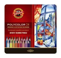 Pencil Polycolor Crayons Koh-I-Noor Set Of 24