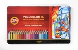 Pencil Polycolor Crayons Koh-I-Noor Set Of 36