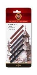 Blocks Sepia  7x7 Koh-I-Noor 6pcs