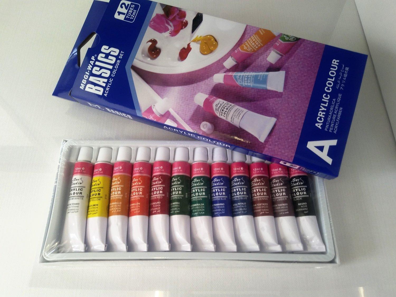 Paint Acrylic Basics 12ml Set Of 12