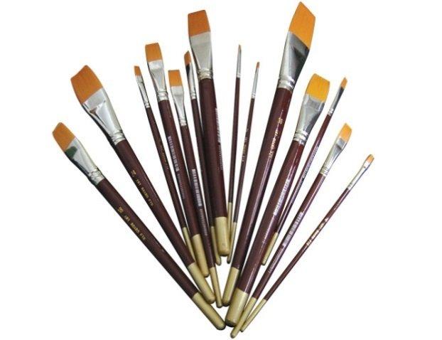 Brush Flat Golden Taklon # 0