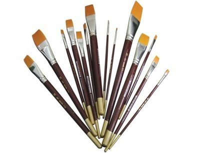 Brush Flat Golden Taklon # 4