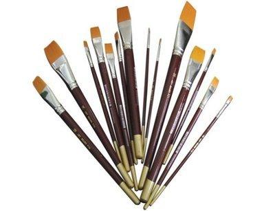 Brush Flat Golden Taklon # 12