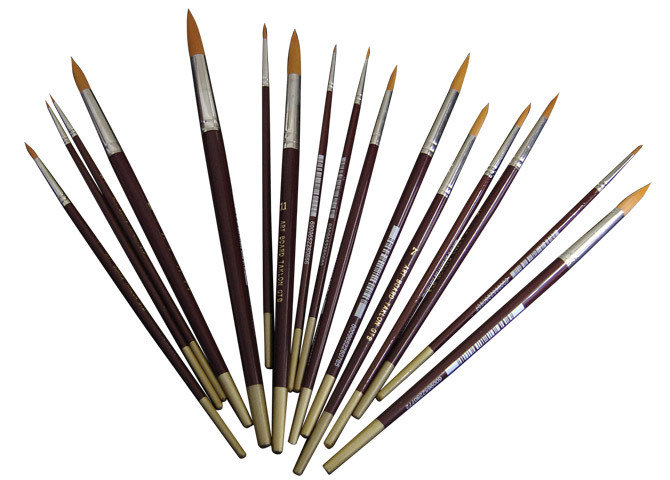 Brush Golden Taklon Round # 1