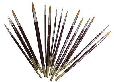 Brush Golden Taklon Round # 7
