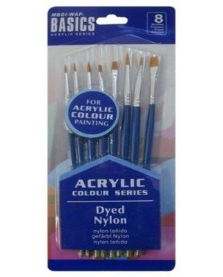 Brush Set Basics Acrylic 8pcs