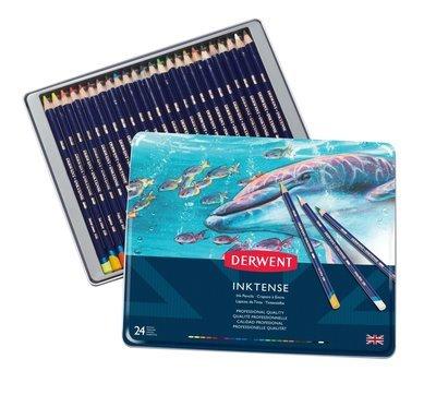 Pencil Inktense Tin Derwent Set of 24