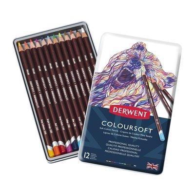 Pencils Coloursoft Tin Derwent Set of 12