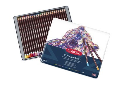 Pencils Coloursoft Tin Derwent Set of 24