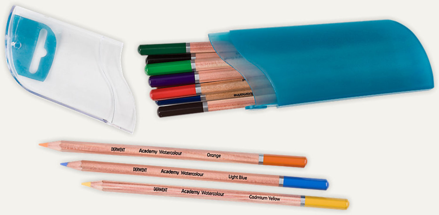 Pencils Watercolour Pod Derwent Academy Set of 12