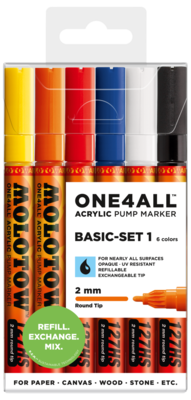 Marker Molotow Acrylic Basic Set 1 ONE4ALL 2mm